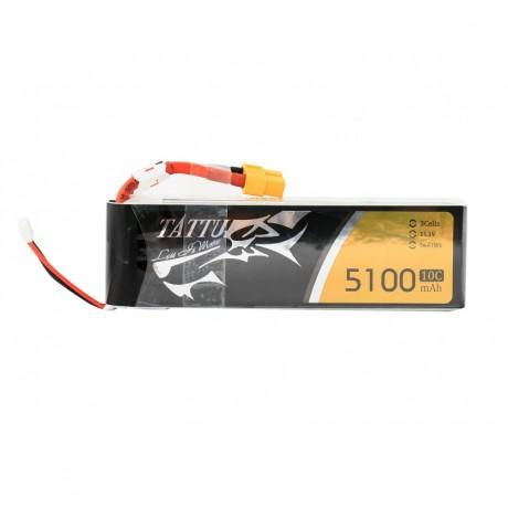 TATTU Lipo Battery - 5100mAh 11.1V 10C 3S1P