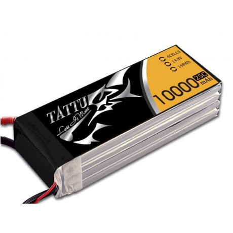 Tattu 10000mAh 14.8V 25/50C 4S1P