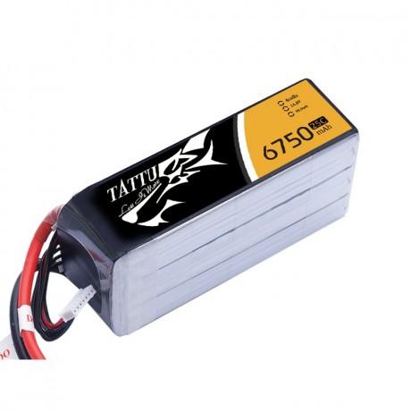 TATTU Lipo Battery - 6750mAh 14.8V 25C 4S1P