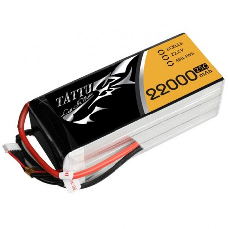 TATTU Lipo Battery - 22000mAh 22.2V 25C 6S1P
